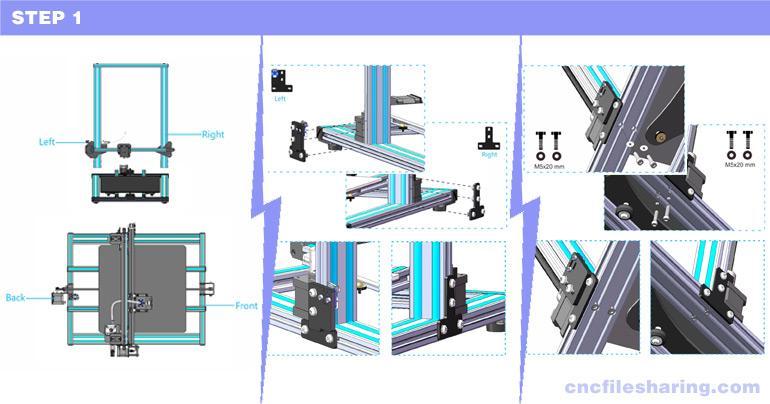 Geeetech A30 Assembly Step 1