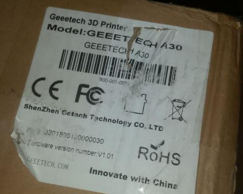 Geeetech A30 Boxed