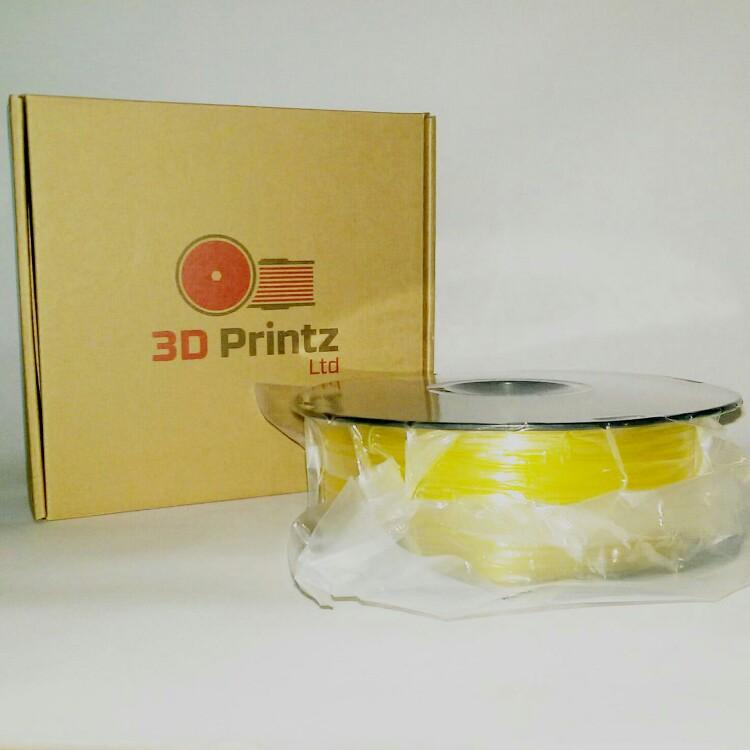 3D Printz UK Filament - Crystal Yellow PLA - Featured