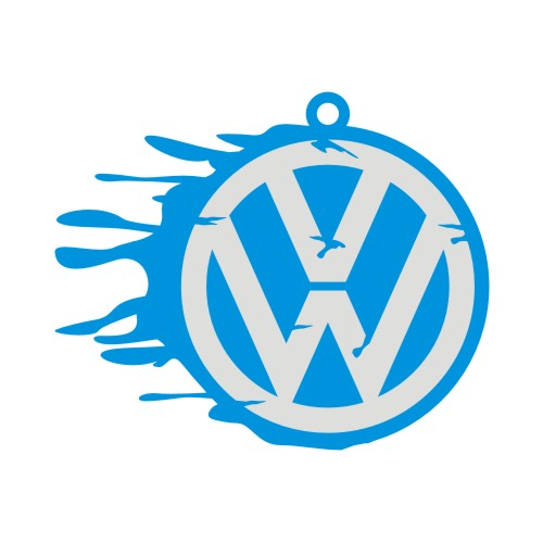 VW Side Splat Keyring