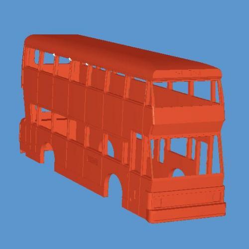 666 Double Decker Bus 3D