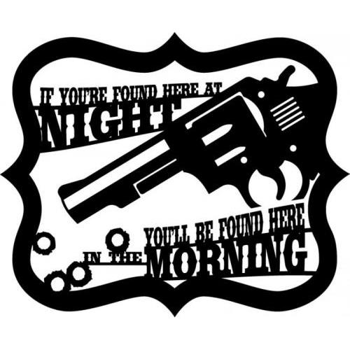 At Night In Morning Gun Warning