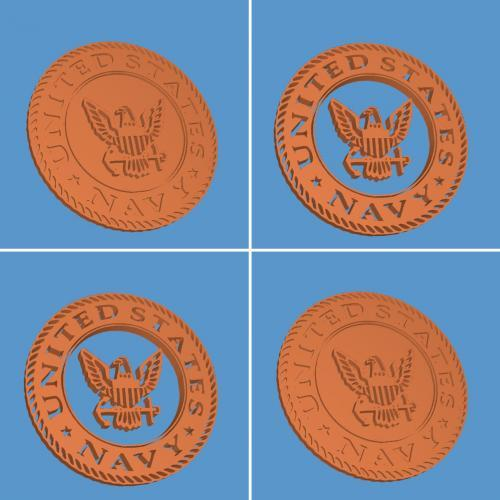CNC File Sharing - US Navy Logos STL
