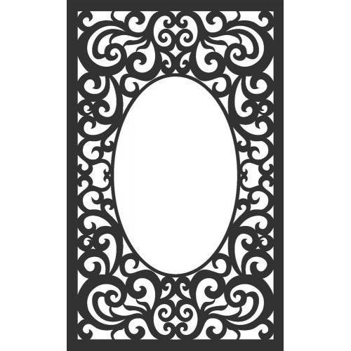 Oval Centered Frame