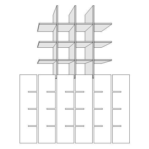 Square Slot Shelves 4x4