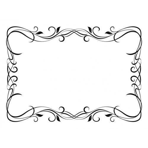 Swirly floral ornamental frame
