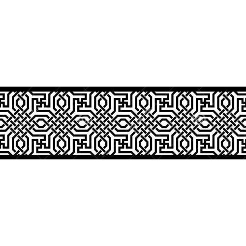 Islamic geometric border edge