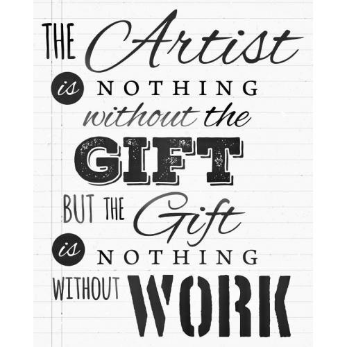 Artists gift quote plaque