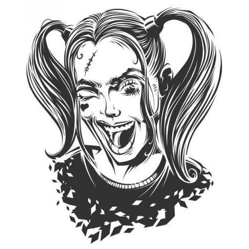 Detailed winking Harley Quinn