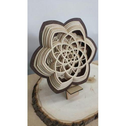 Layered flower sculpture art