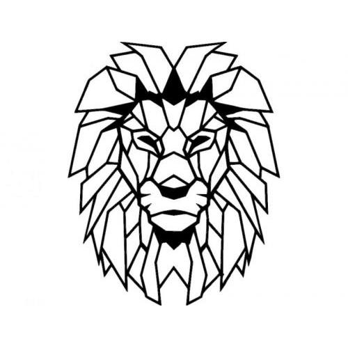 Lion Aslan tribal geometric
