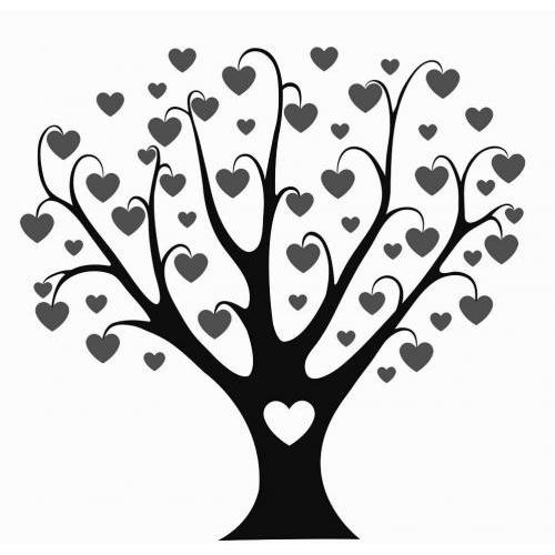 Love life heart tree