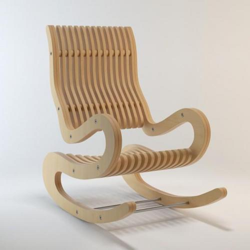 Modern curved rocking chair
