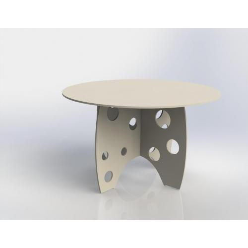 Small round circle bubble table