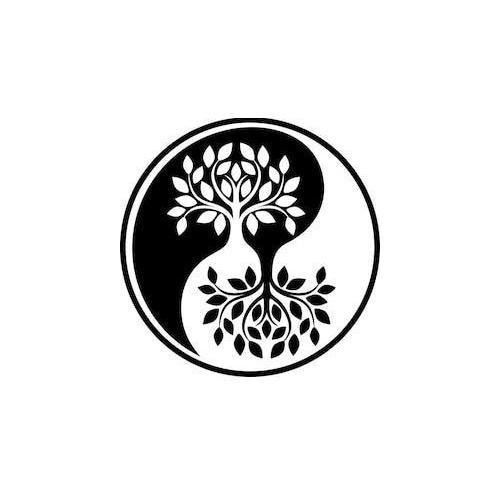 Tree Ying yang peace