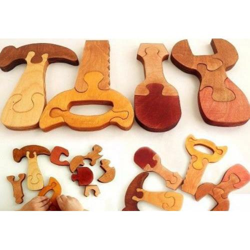 Wooden Tools Jigsaw Toy