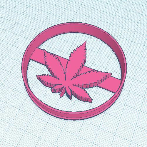 70mm Canna Cookie Cutter Stamp