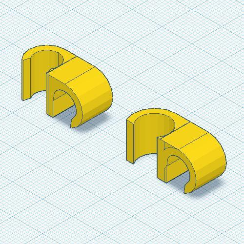 8mm 90deg Cable Clips