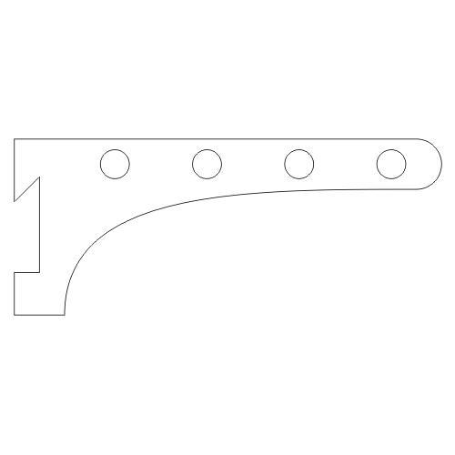 Drying Rail French Cleat Bracket