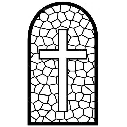 Gothic arch cross panel