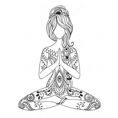 Zen praying lady