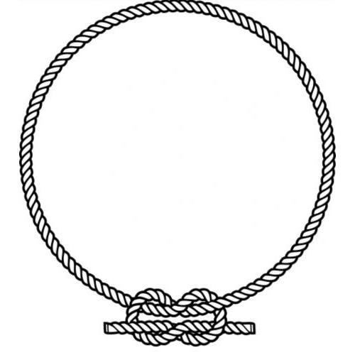 Circle knotted rope frame