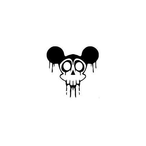 Dripping mickey skull