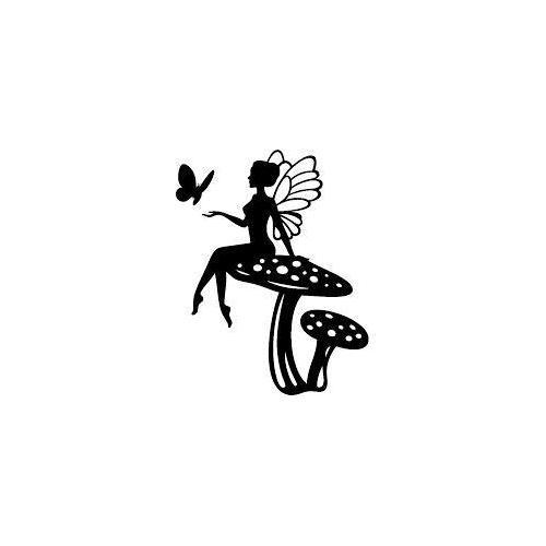 Fairy on toadstool mushroom