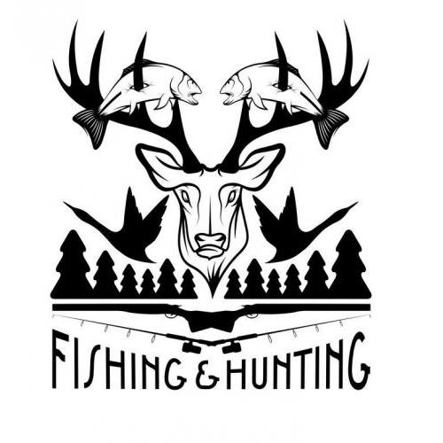 Fishing and hunting plaque