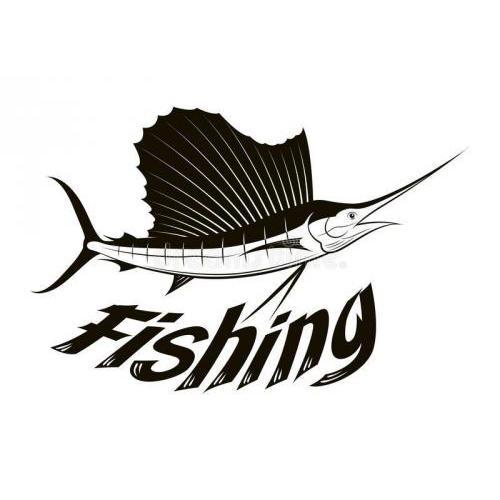 Fishing fish plaque
