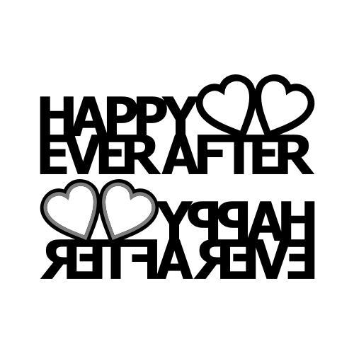 Happy Ever After Heart Picture Stand