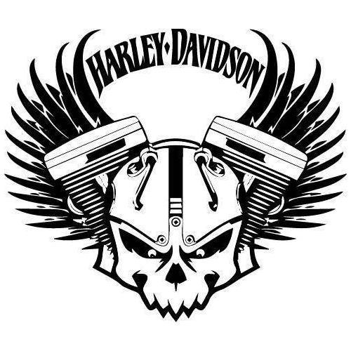 Harley Davidson skull plaque
