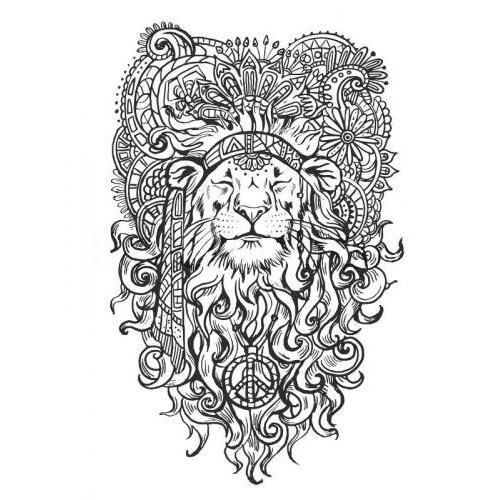 Hippy zen lion peace
