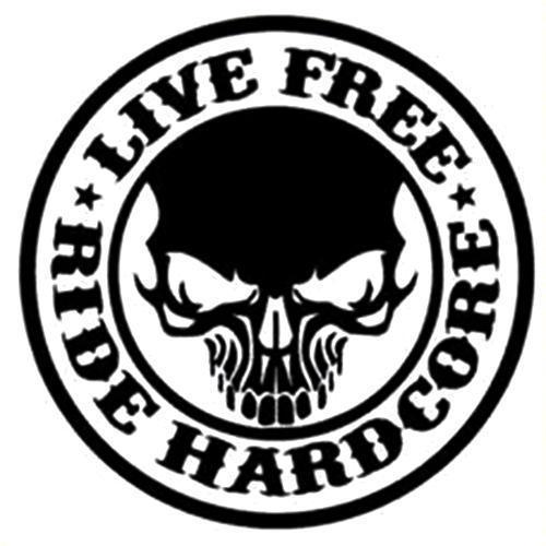 Live free skull plaque