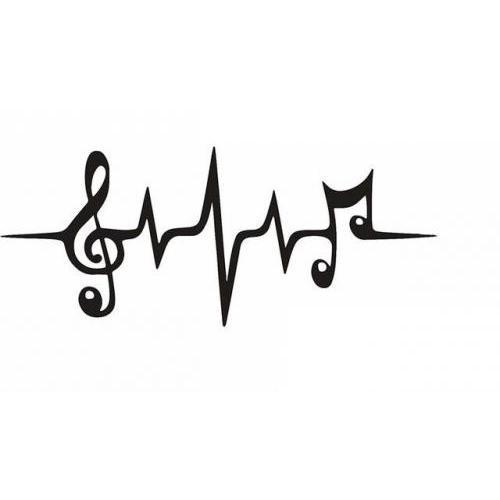 Music heart line
