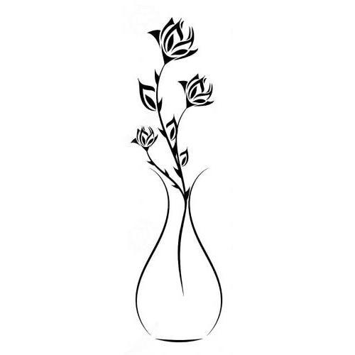 Rose flower vase 3