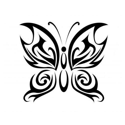 Tribal zen butterfly 1