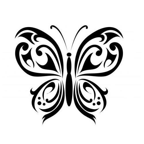 Tribal zen butterfly 2
