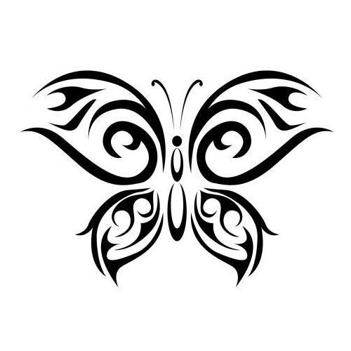 Tribal zen butterfly 3