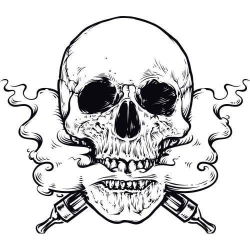 Vaping skull