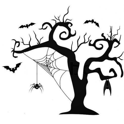 Halloween spider tree