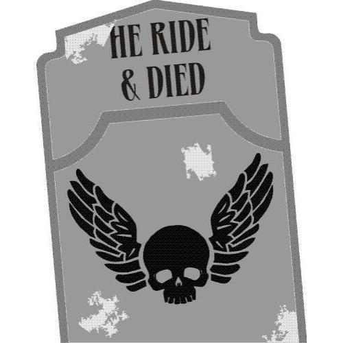 He Ride & Died Headstone