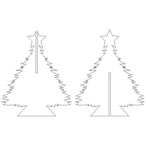 Christmass Tree Solo Slotted