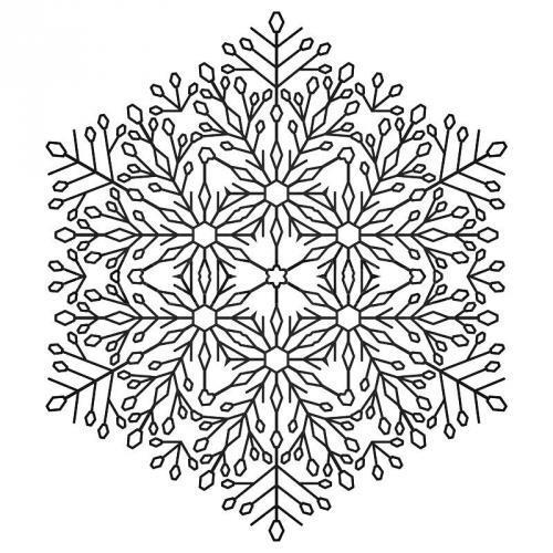 Detailed Christmas snowflake