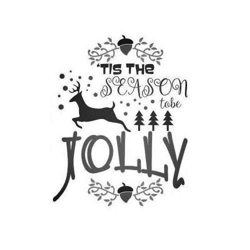 Jolly season Christmas plaque