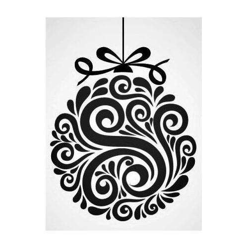 Pretty swirly Christmas bauble