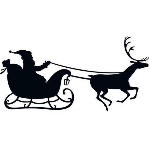 Christmas Santa reindeer sleigh 2