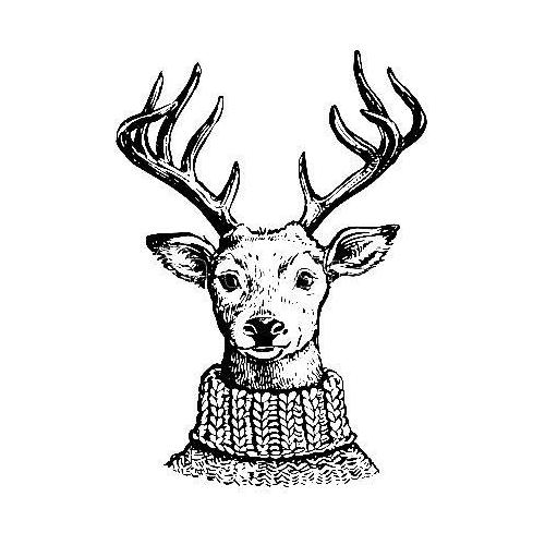 Detailed Christmas reindeer