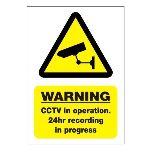 24Hr CCTV Sign