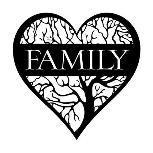 Heart Family Tree Upper